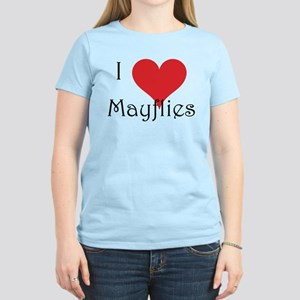 I Love Mayflies - Women's Light T-Shirt