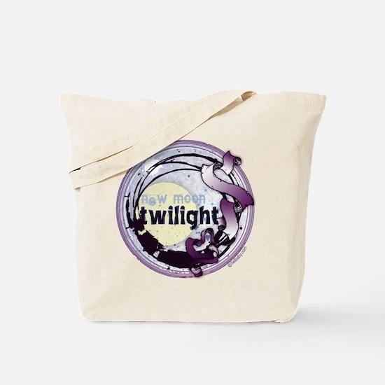 Twilight New Moon Grunge Ribbon Crest Tote Bag