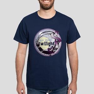 Twilight New Moon Grunge Ribbon Crest Dark T-Shirt
