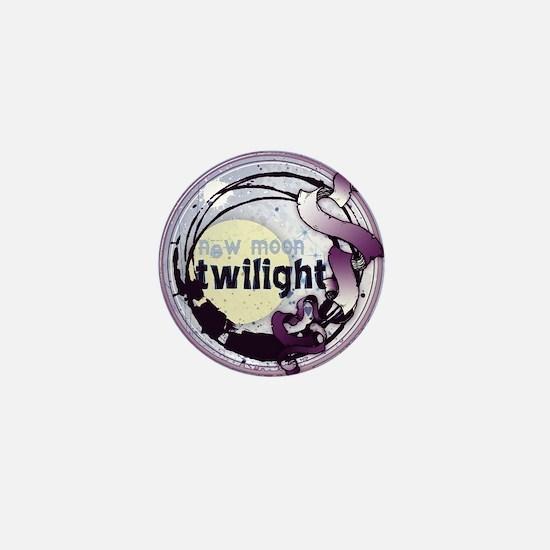 Twilight New Moon Grunge Ribbon Crest Mini Button