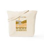 Yellow Scenic Trail Design Tote Bag