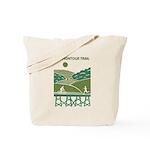 Green Scenic Trail Design Tote Bag
