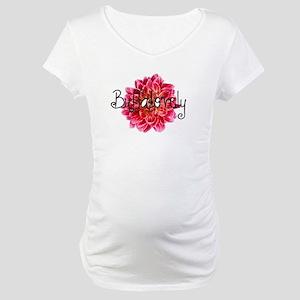 Buffalo Dahlia Maternity T-Shirt