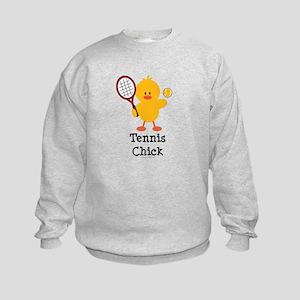 Tennis Chick Kids Sweatshirt