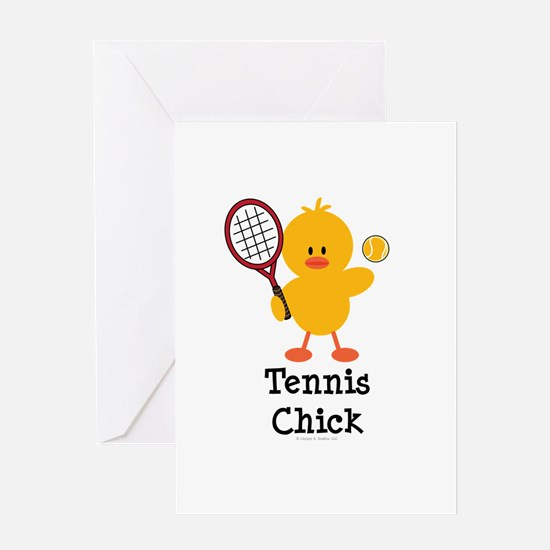 Tennis Chick Greeting Card