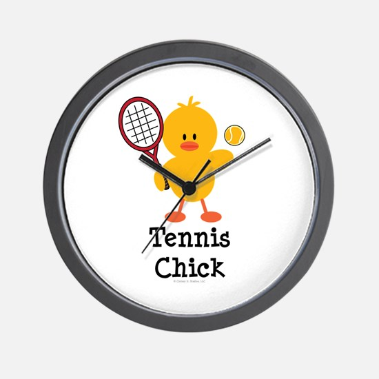 Tennis Chick Wall Clock