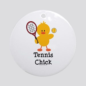 Tennis Chick Ornament (Round)