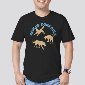 Rescue Dogs Rule Men's Fitted T-Shirt (dark)