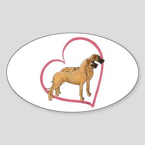 NBrNF Stand Heartline Oval Sticker