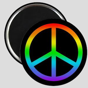 Rainbow Peace Sign Magnet
