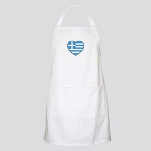 Greece Flag Heart Apron