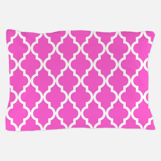 Pink Moroccan Pattern Pillow Case