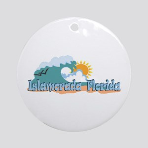 Islamorada FL - Beach Design Ornament (Round)