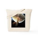 Mushroom Gills Backlit Tote Bag