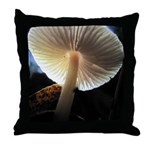Mushroom Gills Backlit Throw Pillow