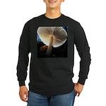 Mushroom Gills Backlit Long Sleeve Dark T-Shirt