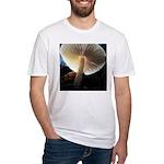 Mushroom Gills Backlit Fitted T-Shirt