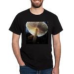 Mushroom Gills Backlit Dark T-Shirt