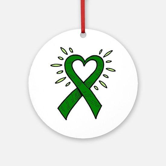 Donor Heart Ribbon Ornament (Round)