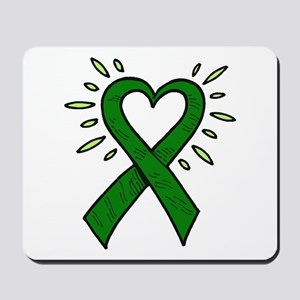 Donor Heart Ribbon Mousepad