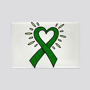 Donor Heart Ribbon Rectangle Magnet