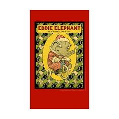 EDDIE ELEPHANT Rectangle Sticker 10 pk)