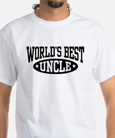 World's Best Uncle White T-Shirt