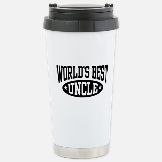 World's Best Uncle Stainless Steel Travel Mug