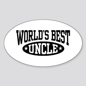 World's Best Uncle Oval Sticker