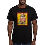 Behind EDDIE ELEPHANT Men's Fitted T-Shirt (dark)