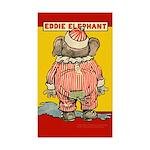 Behind EDDIE ELEPHANT Rectangle Sticker 10 pk)