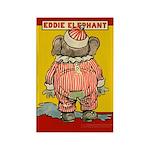 Behind EDDIE ELEPHANT Rectangle Magnet (100 pack)