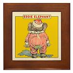 Behind EDDIE ELEPHANT Framed Tile