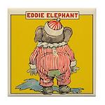 Behind EDDIE ELEPHANT Tile Coaster