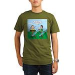 Rain Gutter Boat Race Organic Men's T-Shirt (dark)