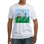 Rain Gutter Boat Race Fitted T-Shirt
