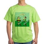 Rain Gutter Boat Race Green T-Shirt