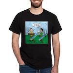 Rain Gutter Boat Race Dark T-Shirt