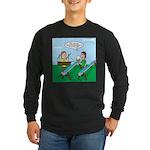 Rain Gutter Boat Race Long Sleeve Dark T-Shirt
