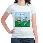 Rain Gutter Boat Race Jr. Ringer T-Shirt
