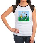 Rain Gutter Boat Race Junior's Cap Sleeve T-Shirt