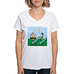 Rain Gutter Boat Race Women's V-Neck T-Shirt