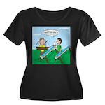 Rain Gut Women's Plus Size Scoop Neck Dark T-Shirt
