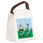 Rain Gutter Boat Race Canvas Lunch Bag