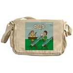 Rain Gutter Boat Race Messenger Bag