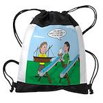 Rain Gutter Boat Race Drawstring Bag