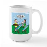 Rain Gutter Boat Race 15 oz Ceramic Large Mug