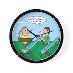 Rain Gutter Boat Race Wall Clock