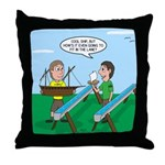 Rain Gutter Boat Race Throw Pillow