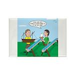 Rain Gutter Boat Race Rectangle Magnet (10 pack)